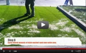 DIY artificial grass installation on concrete